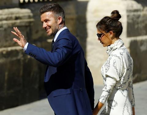 Victoria dhe David Beckham, në dasmën e Sergio Ramos