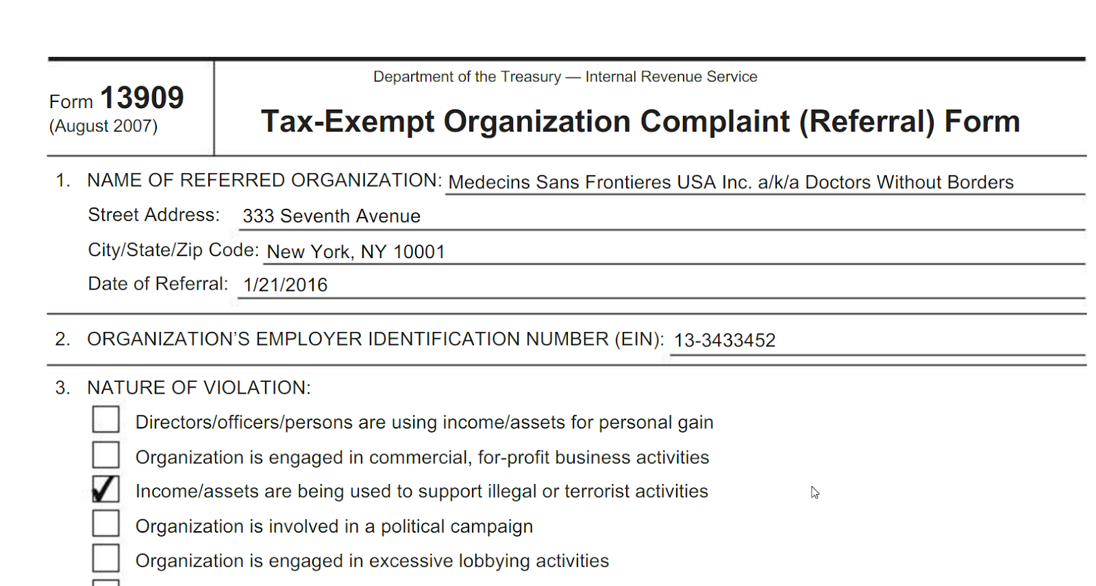 Israel Advocate And New York Lawyer David Abrams Has Filed A Petition With  The IRS Demanding That They Revoke The Tax Exempt Status Of Doctors Without  ...