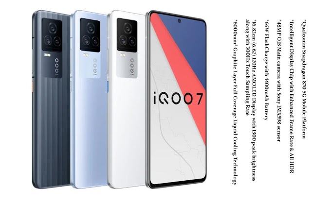 Vivo iQOO 7 5G Gaming Mobile Dual Chip Specifications Price in India
