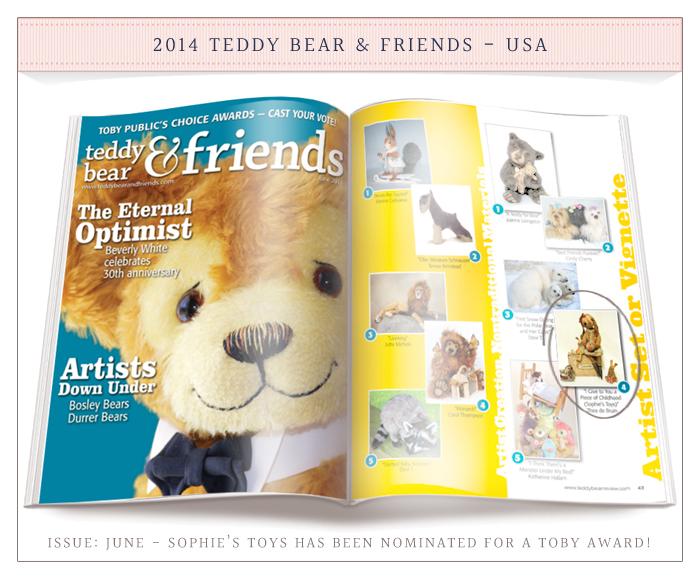 Teddy Bear & Friends 2014, TOBY Awards