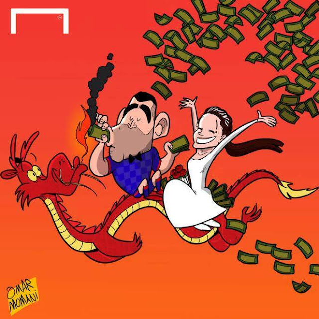 Tevez to China cartoon