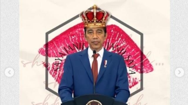 Pajang Foto Jokowi Pakai Mahkota, Akun BEM UI Sebut RI 1 'The King of Lip Service'
