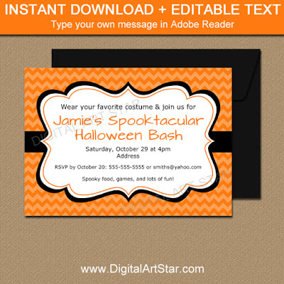halloween party invitation printable