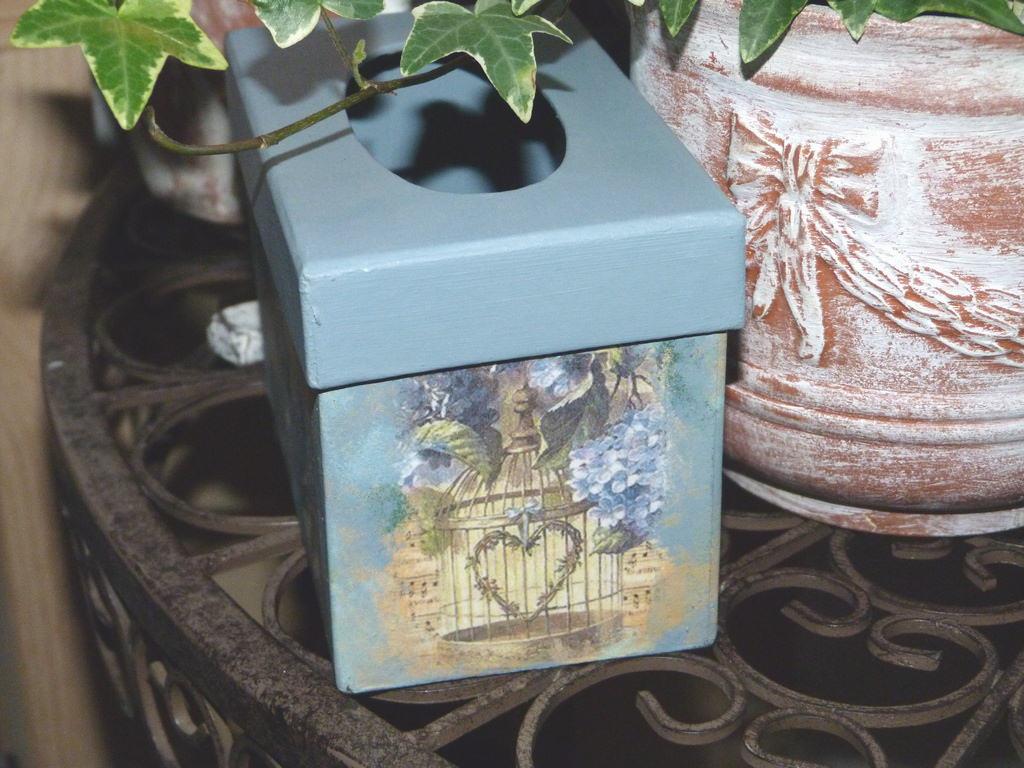 Decorar Una Caja De Papel Mache Con Decoupage Handbox