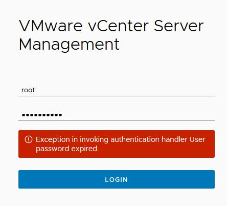 What To Do When vCenter root Password Expired ?