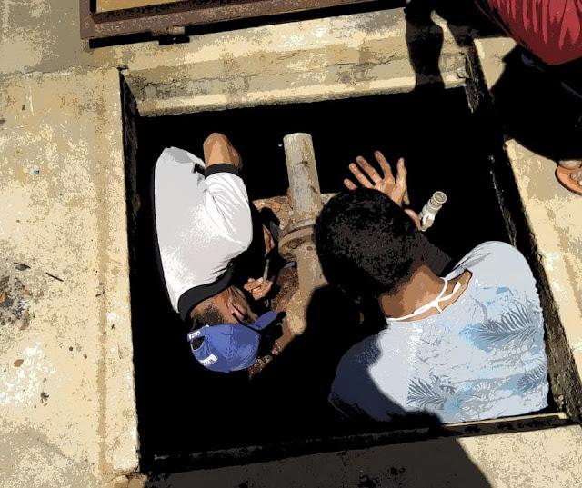 Adutora da comunidade de Mariana em Caraúbas tem quadro elétrico danificado e passa por consertos