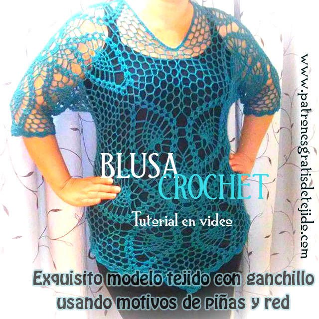 Blusa Calada Crochet Talla XL / Tutorial en video | Crochet y Dos ...