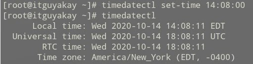 set time in Linux system