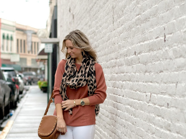 Leopard Scarf Fall Outfit