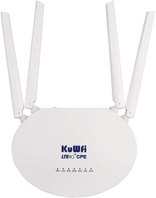 Review KuWFi CPE812US+Cat6  4G LTE Router