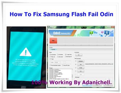 How To Fix Samsung Flash  Odin Fail