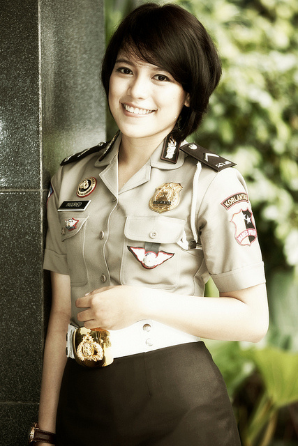 The most beautiful police girls from Indonesia
