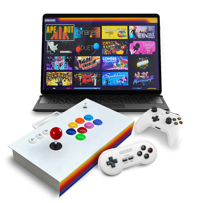 Turn Any PC into a Polycade Video Gaming System with Polycade's New Arcade Gaming Software and Supporting Hardware