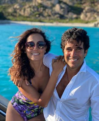 caterina balivo marito guido maria brera foto 8 agosto isola la Maddalena