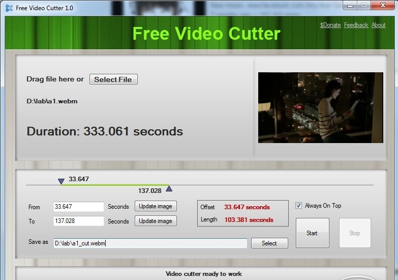 Portable apps free video cutter 1 2 portable for Free portable