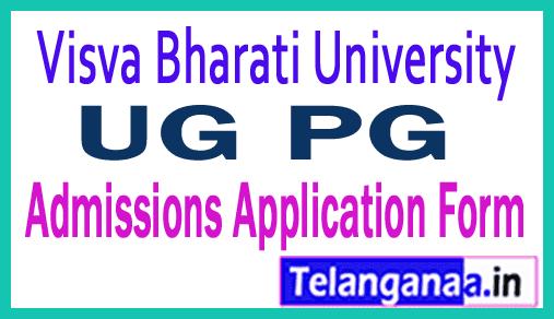 Visva Bharati University UG PG Admissions Application Form