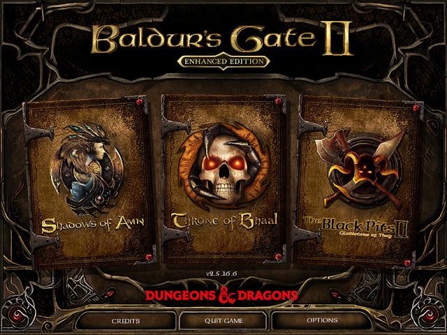 Baldur's Gate II Enhanced Edition title screen