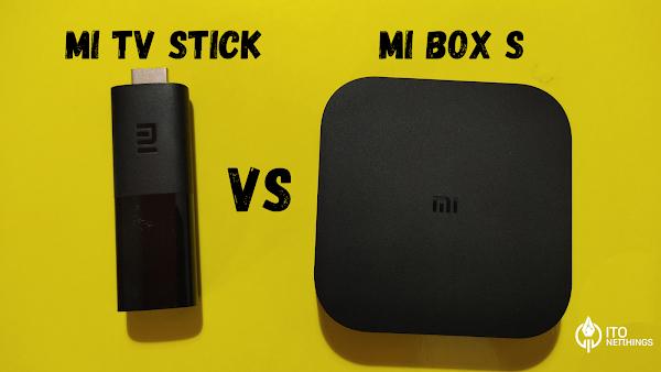 Xiaomi Mi Box S vs Xiaomi Mi TV Stick