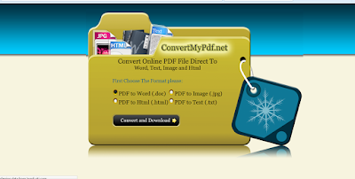 موقع لتحويل ملفات PDF الى Word / Html / Text / Jpg
