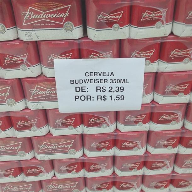 budweiser+oferta Budweiser no Walmart Pacaembú