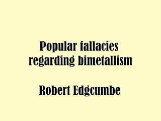 Popular fallacies regarding bimetallism