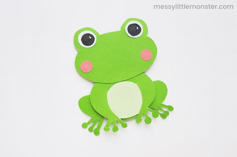frog spring craft for kids