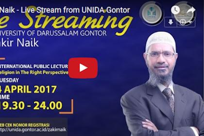 Ini Video Live Streaming Dr. Zakir Naik dari Universitas Darussalam Gontor