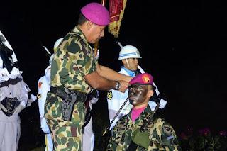 Prosesi Pembaretan Tamtama Remaja Marinir
