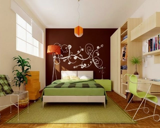 feature wall paint ideas for bedroom