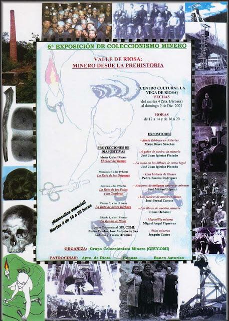 Cartel de la Exposición de Coleccionismo minero de Grucomi en Riosa