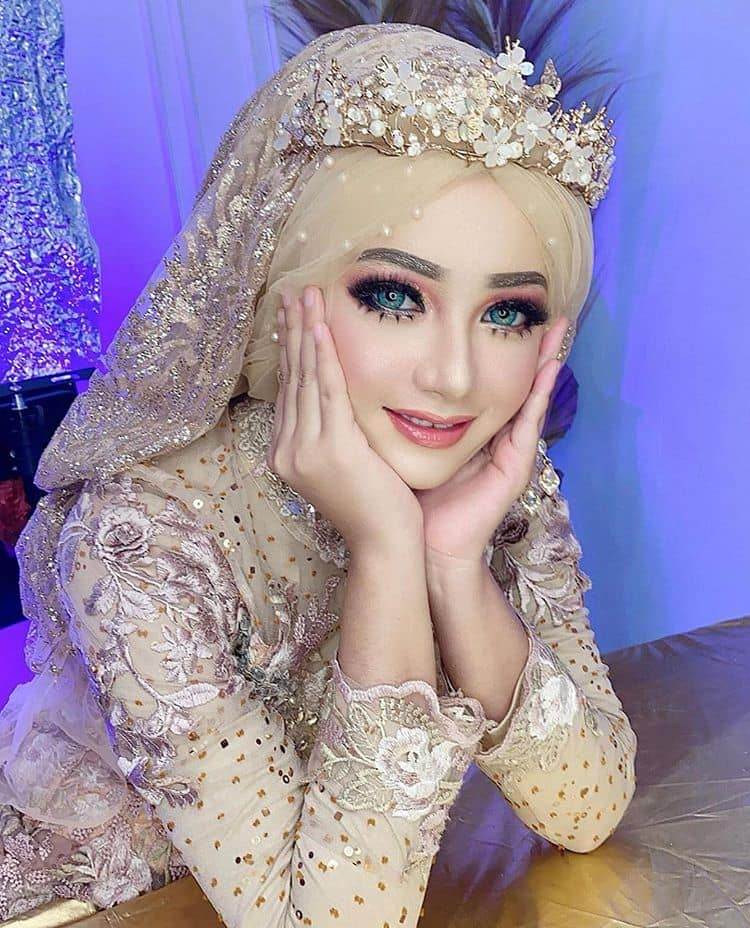 gaya hijab pengantin terbaru 2021