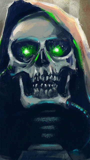 17 Skull Mask, Grey Red Skull, Magic Skull Art Wallpapers HD 4K for Android and iPhone