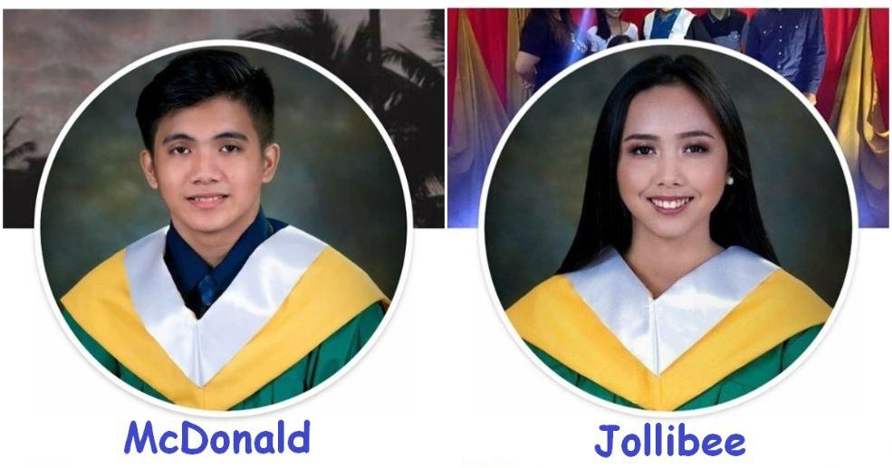 Real-life Jollibee and McDonald twins
