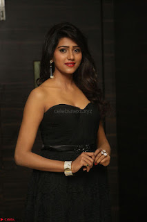 Shalu Chourasiya in spicy Sleeveless Strapless Black Top at O Pilla Nee Valla Movie Audio Launch Feb 2017 057.JPG