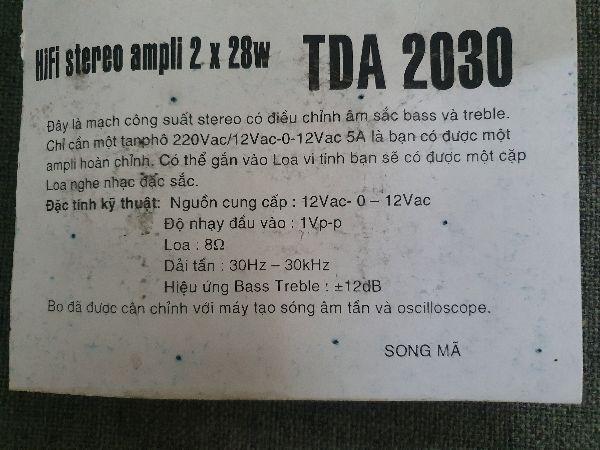 Mạch công suất TDA2030 giá rẻ hà nội