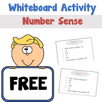 White Boards Activity Number Sense