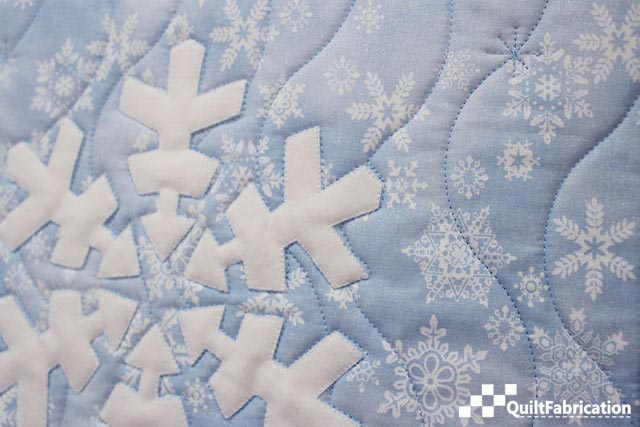 quilting on Let It Snow