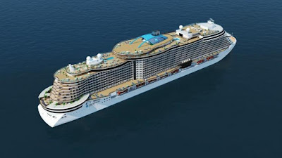 Norwegian Cruise Line's New Leonardo Class Vessel From Italy's Fincantieri Shipyard.
