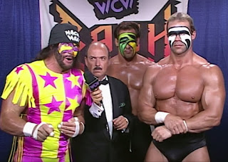 WCW REVIEW - BASH AT THE BEACH 1996 - Randy Savage, Sting, and Lex Luger faced The Outsiders