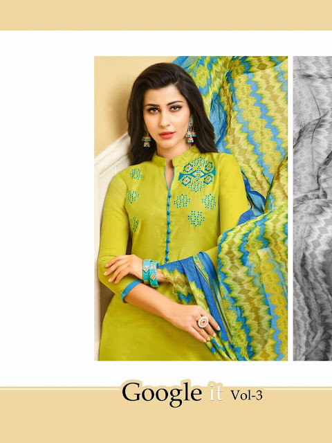 Google It vol 3 rr fashion Churidar dress material Catalog