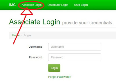 How to login in IMC associate