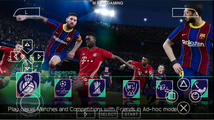 Download PES 2021 PPSSPP For Android Offline (300+300)MB (New Transfers Update September)