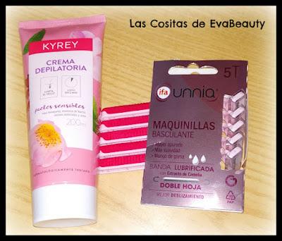 Crema depilatoria KYREY y Maquinillas Ifa Unnia