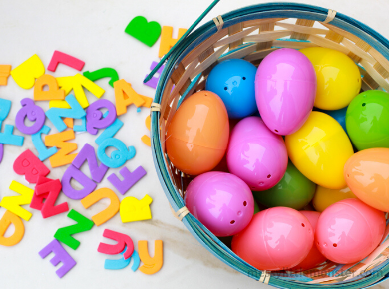 Easter egg alphabet hunt