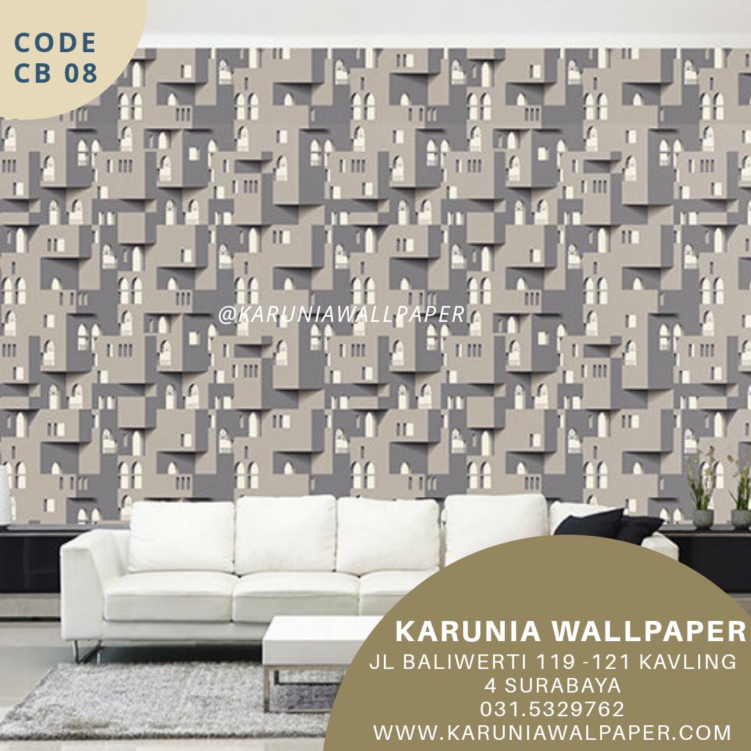jual wallpaper motif kota 3dimensi