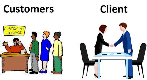 الفرق بين الزبون والعميل