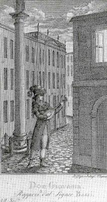 Luigi Bassi in the title role of Don Giovanni in 1787.