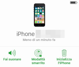Voci per iPhone rubato