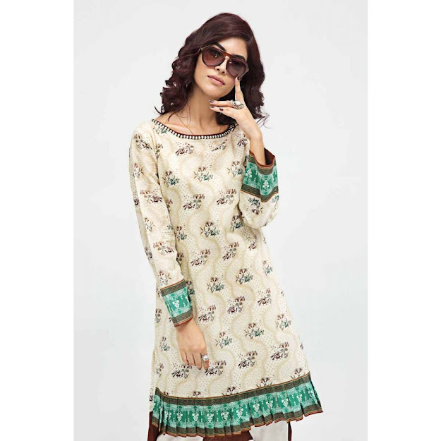 Gul Ahmed Gale Gul off white color unstitched shirt collection