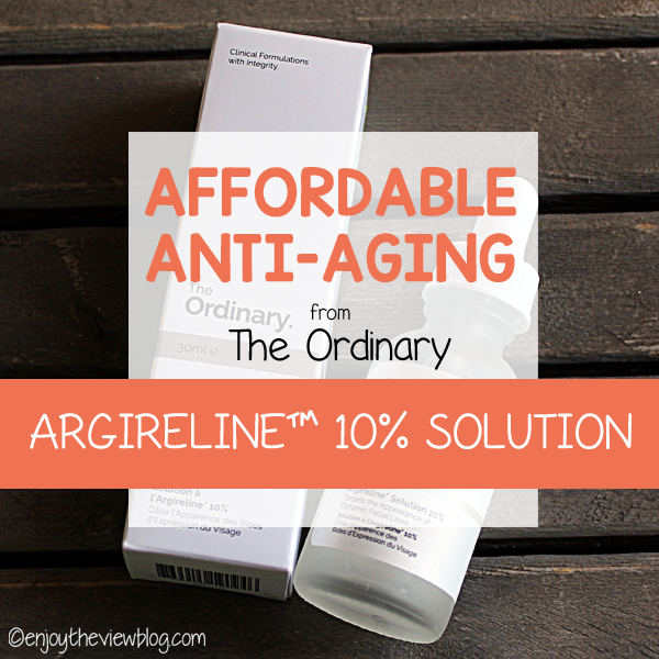 Affordable Anti-aging: The Ordinary 10% Argireline™ solution